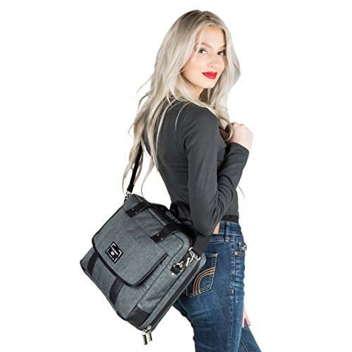 Chrono Protective Laptop/Tablet Shoulder Messenger Bag Carrying Case w/Handle For 13.3'' - 14'' Tablets, 2in1, Ultrabooks Netbooks by Vangoddy (Image #6)
