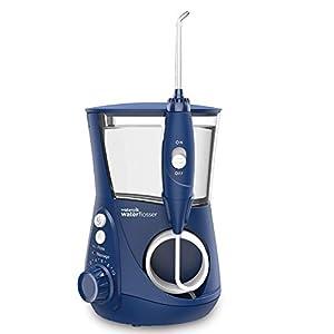 Waterpik WP-663EU Aquarius – Irrigador dental, 100-240V, depósito de agua de 650 ml, Azul 41B0ICWo2NL