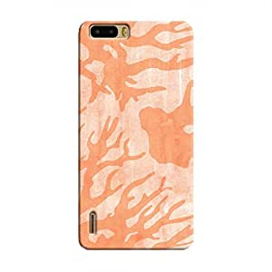 Cover It Up - Pink Shades Nature Print Honor 6 Plus Hard Case