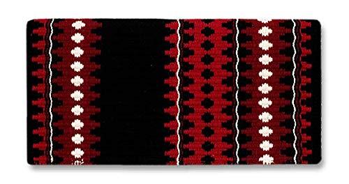 Mayatex Catalina Saddle Blanket, Black Red Tibetan Red Cream