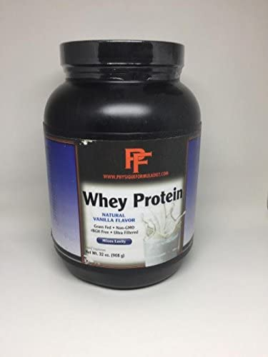 Physique Formula 100 Grass Fed Whey Protein Powder No Added Sugars. Non-GMO, rBHG,Gluten,Artificial Sweetener Hormone Free from California Grass Fed Cows, Vanilla Flavor