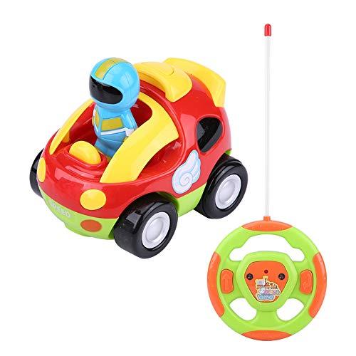 RC カー 電動おもちゃ RC車 リモコンカー ラジコンカー 歌 音楽 エンジン音 ホーン音 フロントライト点滅 おもしろい かわいい 簡単操作 幼児 子供  (レッド)