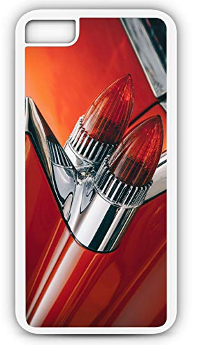 iPhone 8 Plus 8+ Case 1959 Cadillac De Ville Deville Classic Car Tail Light Customizable by TYD Designs in White Rubber]()