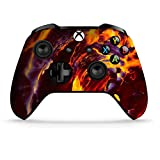Dreamcontroller Xbox One Non-Modded Controller - Customized Design with Anti-Slip Soft Grip - Great for Gaming Competitions and Tournaments - Bluetooth for Windows 10 PC (Fire Art)