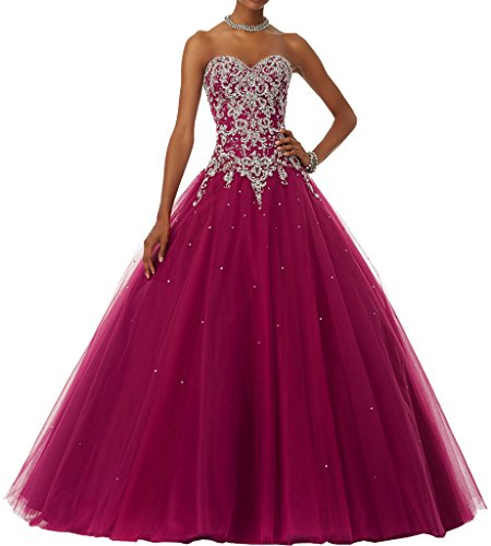 MILANO BRIDE 2017 Quinceanera Dress Affordable Strapless Ball Gown Beadings-4-Hot Pink Ball Gown Strapless Beading