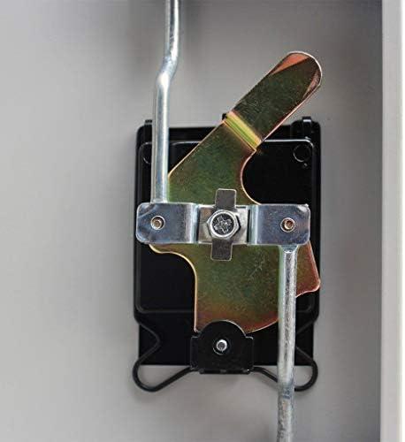 Armario de almacenaje de escritorio de 2 capas de 4 capas con estante bloqueable largo x ancho x alto armario de oficina de metal . f/ácil de limpiar y mantener tama/ño: 90 x 40 x 140 cm