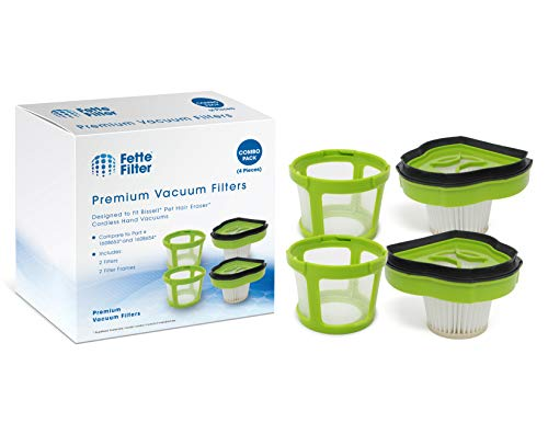 Fette Filter - Vacuum Filter Compatible with Bissell Pet Hair Eraser Hand Vac. Compare to Part # 1608653 & 1608654, 160-8653 & 160-8654. 2-Pack (Hand Part Vac)