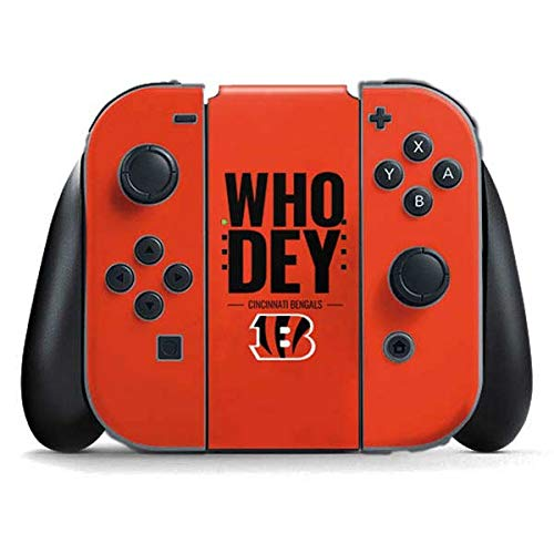 Skinit Cincinnati Bengals Team Motto Nintendo Switch Joy Con Controller Skin - Officially Licensed NFL Gaming Decal - Ultra Thin, Lightweight Vinyl Decal Protection ()
