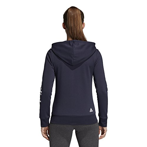 adidas Women's Essentials Linear Full Zip Hoodie Legend Ink/White X-Small by adidas (Image #5)
