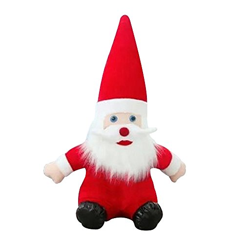 Baiyu Christmas Santa Claus Dolls Soft Plush Toy Baby Kids Children Cute Stuffed Doll Xmas Decorations Gift Birthday Party Decor--Height 30cm
