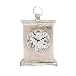 Plutus Brands Antique Styled Aluminum Table Clock