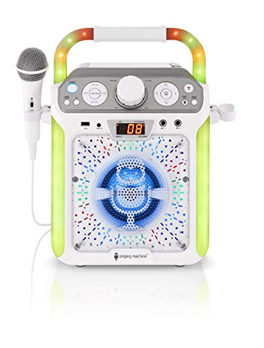 Singing Machine SML682BTW Groove Cube CDG Karaoke System, White (