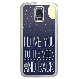 Perfect fitting cover protects your Samsung S5, case protect your Samsung S5 with I Love You Moon Nursery