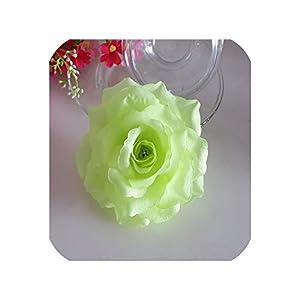 10PCS/Lot 10CM Golden Artificial Roses Silk Flower Heads DIY Wedding Home Decoration Festive Accessories Party Supplies 20colors,Green,Diameter 10cm 1