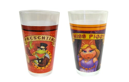 Disney Muppets Glass Tumbler, 16-Ounce, Set of 2 -