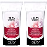 Olay Regenerist Micro-Exfoliating Wet Cleansing Cloths 30 Count (Pack of 2)