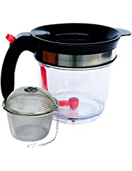 Fat Separator & Gravy Separator by JustGoSmarter - Measuring Cup with Bottom Release and Strainer - Grease & Oil Separator - Also Works as Tea and Fruit Infuser, Batter Dispenser - Large - 4 Cups