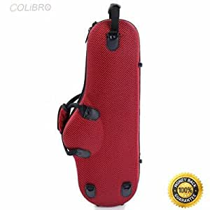 COLIBROX--New Saxophone Case High Grade Durable Cloth Alto Sax Box Red An item that has been restored to working order by the eBay seller or a third party not approved by the manufacturer.