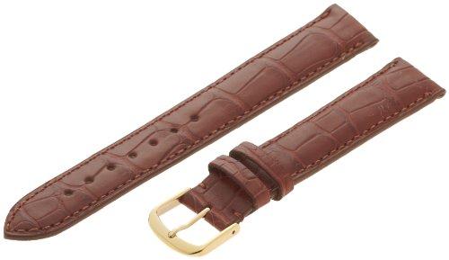 - Hadley-Roma Men's MS2005RB-170 17-mm Chestnut Genuine Alligator Leather Watch Strap