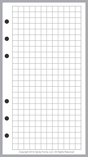 "Personal Size Graph Paper Refill, Sized and Punched for Filofax Personal Notebook (3.7"" x 6.75"")"