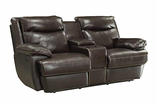 Coaster Home Furnishings 601812P Macpherson Motion Collection Power Loveseat, Cocoa Bean