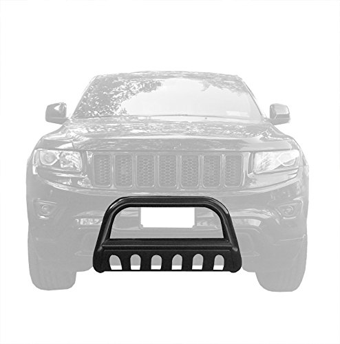 Tyger Auto Custom Fit 2011-2017 Jeep Grand Cherokee Black Grille Bumper Guard Bull Bar (Excl. SRT, Trail Hawk, and Models w/Active Cruise Control)