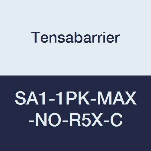 Yellow 2 Wide 13 Length Tensabarrier SA1-1PK-MAX-NO-R5X-C PVC Post Red Belt Steel
