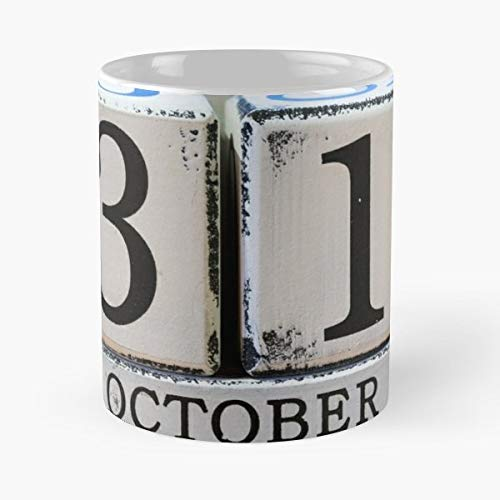 31st Black Cube Date - 11 Oz Coffee Mugs Unique Ceramic Novelty Cup, The Best Gift For Halloween.
