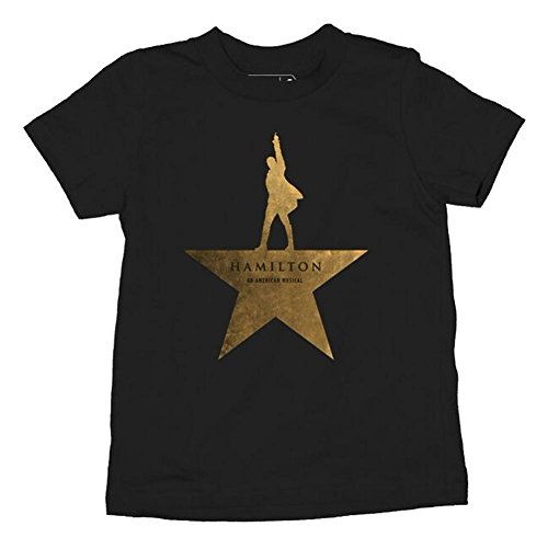 Hamilton Gold Star T-Shirt Youth T-Shirt-T4 (T4, Black)