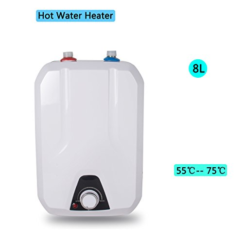 Zinnor Electric Hot Water Heater for Kitchen Bathroom Household, 8L 1500W/110V Electrical Hot Water Heater