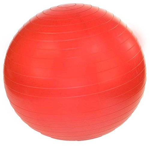 JFIT 45 cm. Professional Exercise Ball w Pump in Ruby Red