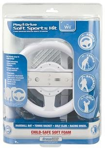 Dreamgear Llc Wii Play Drive Soft Sports Kit User Friendly Snap-In Handle Design Soft Material