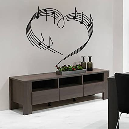 Music Vinyl Decal Musical Note Home Wall Art Decor Removable Stylish ...