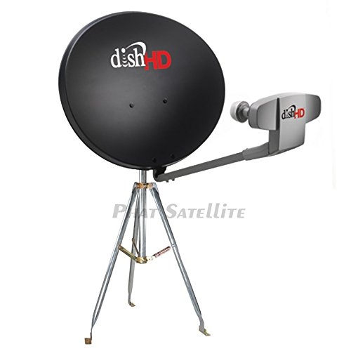 Dish Network 1000.2 Turbo HD Hybrid Western ARC Complete Portable Camping RV Tailgate KIT with 3FT Tripod & COAXIAL RG6 & HDMI Cable for Hopper Receiver