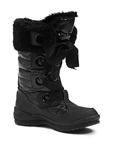 Guess Womens Valentime Cold-weather Lace-up Boots, Nero (8)
