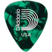 D'Addario Celluloid Green Pearl Heavy Pena