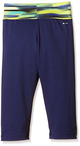 adidas YG AIS 3/4 TGT - Pantalón capri para mujer Azul marino / Azul / Amarillo / Plata