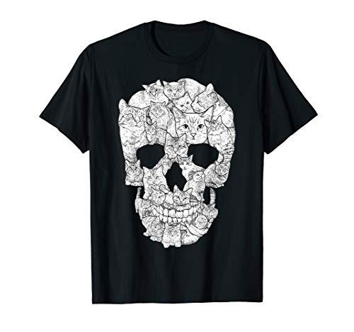 Kitty Cat Halloween Ideas (Cat Skull T-Shirt - Kitty Skeleton Halloween Costume Idea)