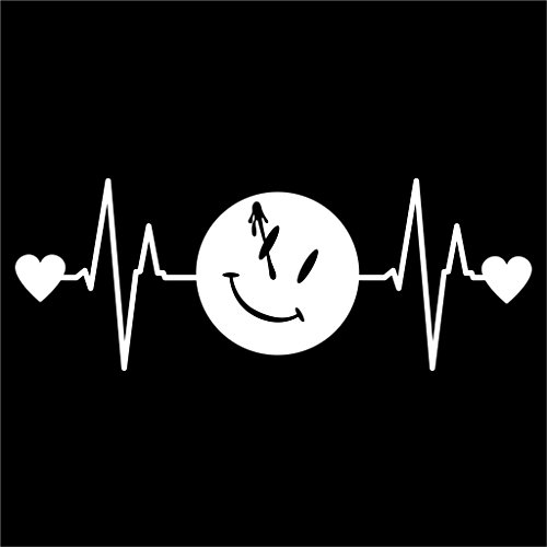 Watchmen Heartbeat Vinyl Decal Sticker | Cars Trucks Vans Walls Laptops Cups | White | 7.5 X 2.8 Inch | KCD1176
