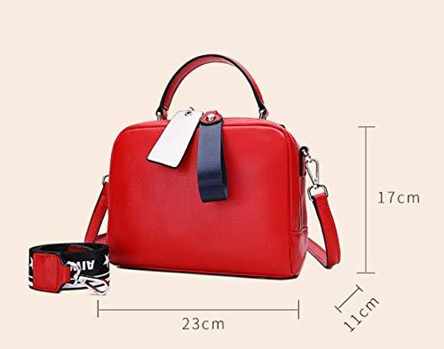 Shoulder Strap colore Red1 Donna Wide Acvxz Dimensioni Red2 Size Contrast Regalo Crossbody Di One Compleanno Bag Borsa Da Ms Tote wxwY6qX