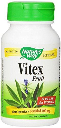 Nature's Way Vitex Fruit 400mg, (Gelatin) Capsules 100 ea