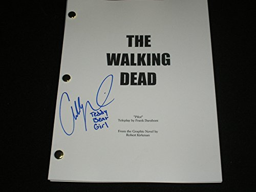 Addy Miller Signed The Walking Dead Pilot SCRIPT Summer Teddy Bear Girl Autograph]()