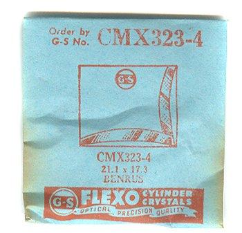 Benrus 21.1 X 17.3mm Flexo NOS Watch Crystal CMX323-4 Nos Watch Crystal