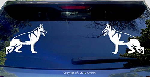 GERMAN SHEPHERD Decal- LEFT & RIGHT Mirror image - Each individual dog Size 5.6