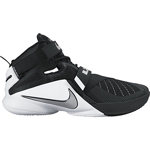 413b05009e11f Galleon - Men s Nike LeBron Soldier IX Team Basketball Shoe  Black White Anthracite Silver Size 11 M US