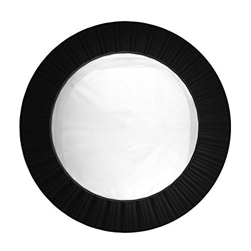 20' Simply Elegant Black Fluted Frame Decorative Round Wall Mirror