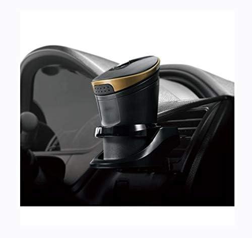 車の灰皿ソーラールミナスLEDランプ灰皿高い温度、耐熱 (Color : Black)