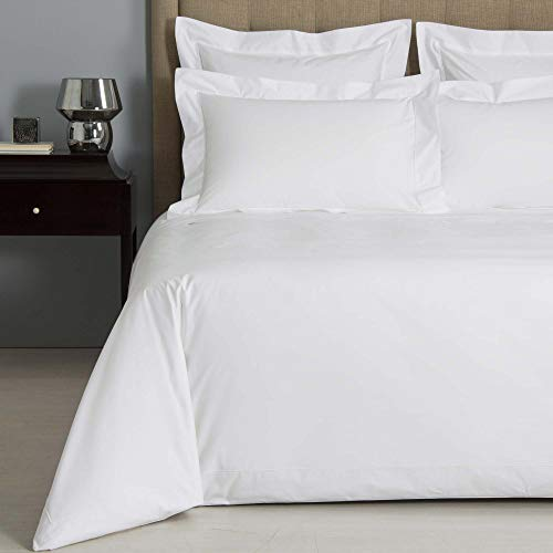 (Precious Star Linen Hotel Quality 800 Thread Count Egyptian Cotton 1-Piece Duvet Cover, Hypoallergenic, Zipper Closer with Corner Ties (King/Cal-King (94