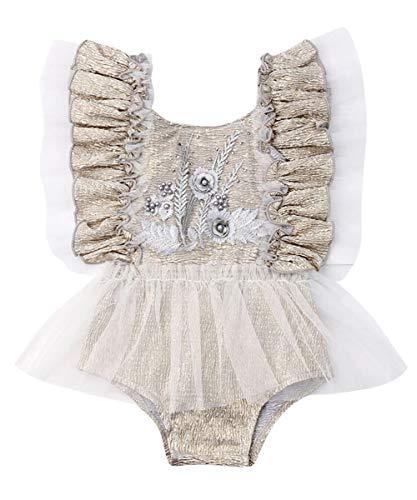 Newborn Infant Baby Girl Clothes Lace Halter Backless Jumpsuit Romper Bodysuit Sunsuit Outfits Set (A Very Gorgeous Onesies-Color 3, 12-18 Months) ()