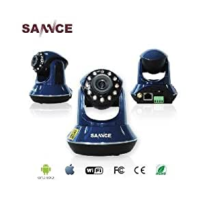 SANNCE 720P Wireless P2P Smartphone IR-Cut Motion Detection Remote Day/Night Vision Pan/Tilt Network